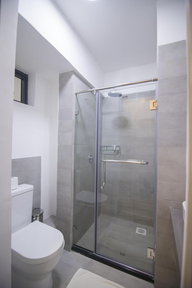 Shower in our rooms